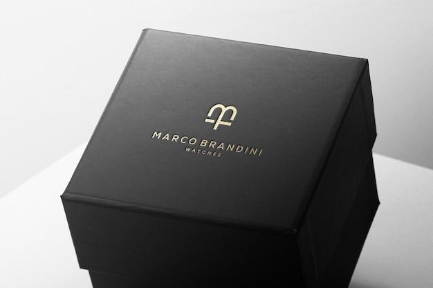 Caixa de luxo de maquete de logotipo Psd grátis