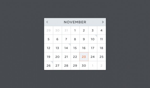 Calendar psd psd Psd grátis