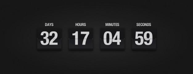 Calendário flop com número de dias Psd grátis