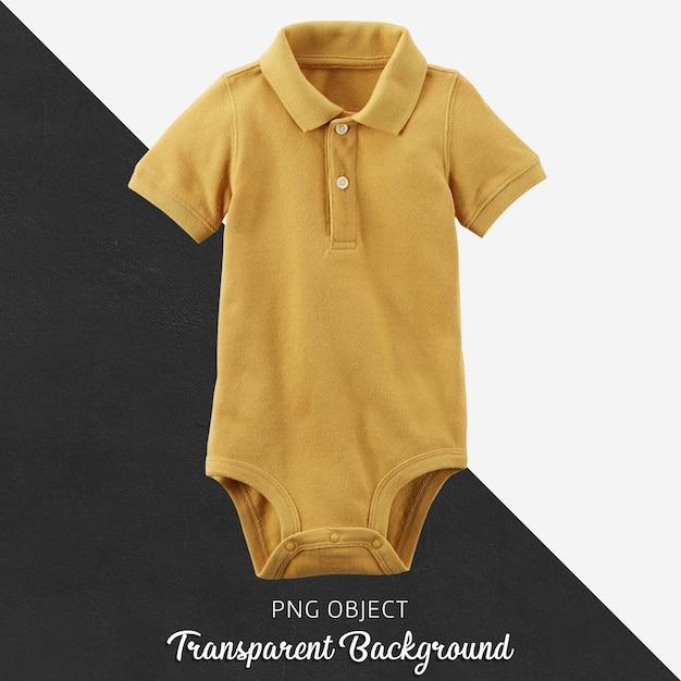 Camisa amarela polo transparente para bebê ou crianças Psd Premium