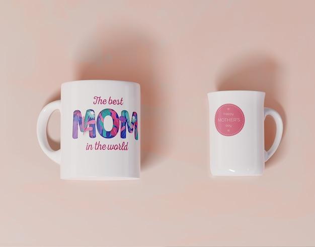 Canecas do dia das mães do close-up Psd grátis