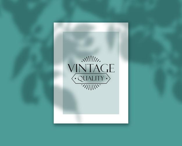 Capa de livro elegante editável mock-se com sobreposição de sombra Psd grátis