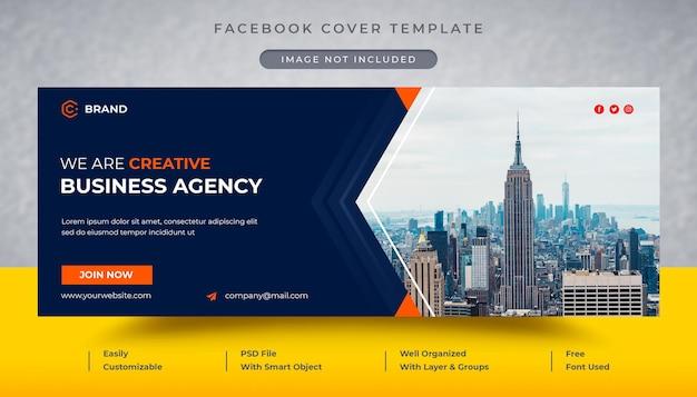 Capa do facebook da agência de negócios criativos e modelo de banner da web Psd Premium