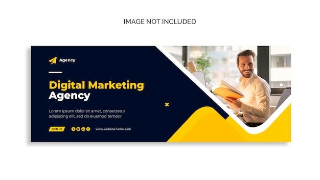 Capa do facebook de marketing digital e modelo de banner da web Psd grátis