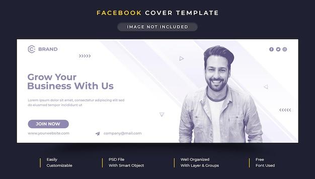 Capa do facebook e modelo de banner da web para agência de negócios corporativos e criativos Psd Premium