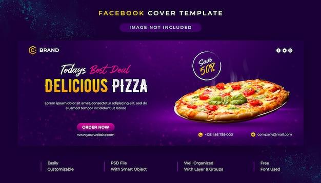 Capa promocional do facebook e modelo de banner da web para menu de comida e restaurante Psd Premium