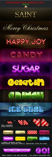 Caracteres luminosos fontes coloridas em psd Psd grátis