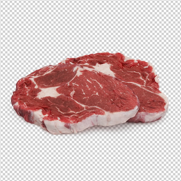 Carne isométrica Psd Premium
