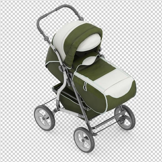 Carrinho de bebê isométrico Psd Premium