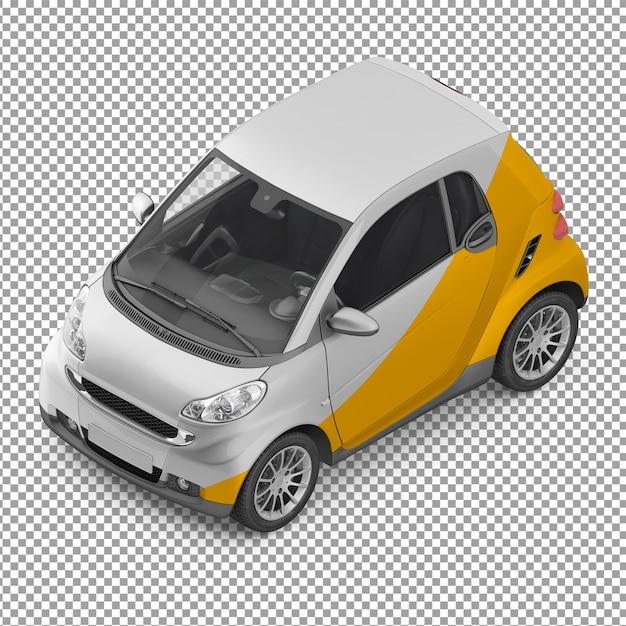 Carro isométrico Psd Premium