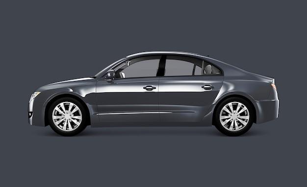 Carro sedan cinzento Psd Premium