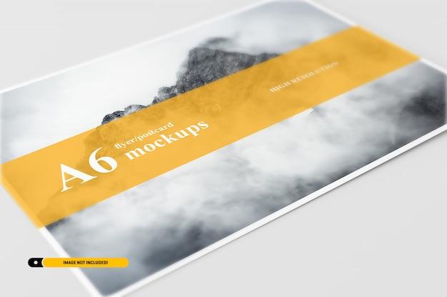 Cartão a6 / maquete flyer Psd Premium