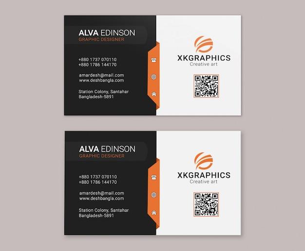 Cartão corporativo criativo Psd Premium