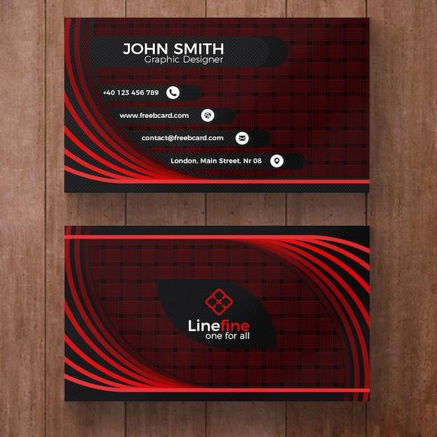 Cartão de empresa vermelho e preto Psd grátis