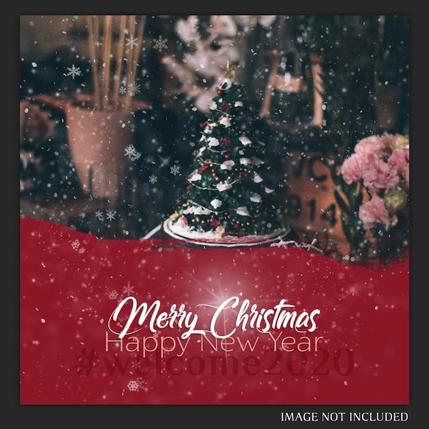 Cartão de instagram do natal Psd Premium