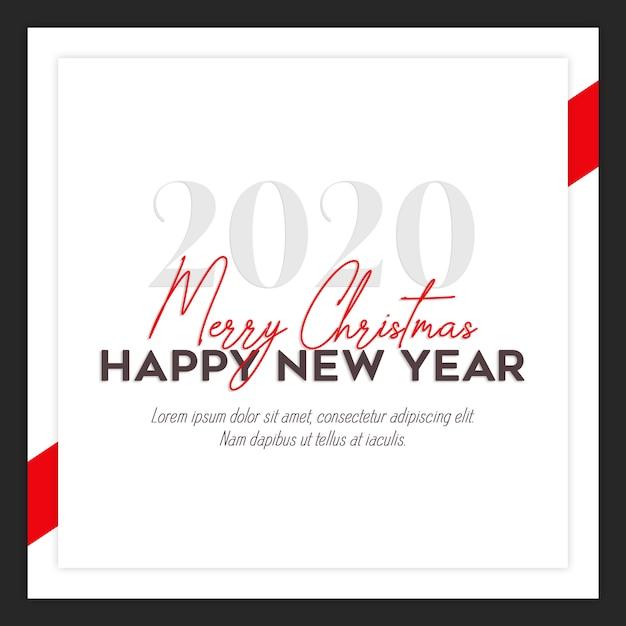 Cartão de natal instagram ou modelo de banner Psd Premium