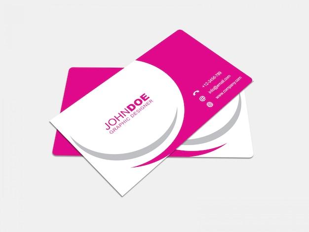 Cartão de negócios mockup 04 Psd Premium