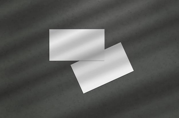 Cartão de visita 3.5 x 2 polegadas mockup em fundo escuro Psd Premium
