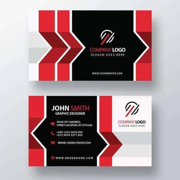 Cartão de visita abstrato vermelho Psd grátis