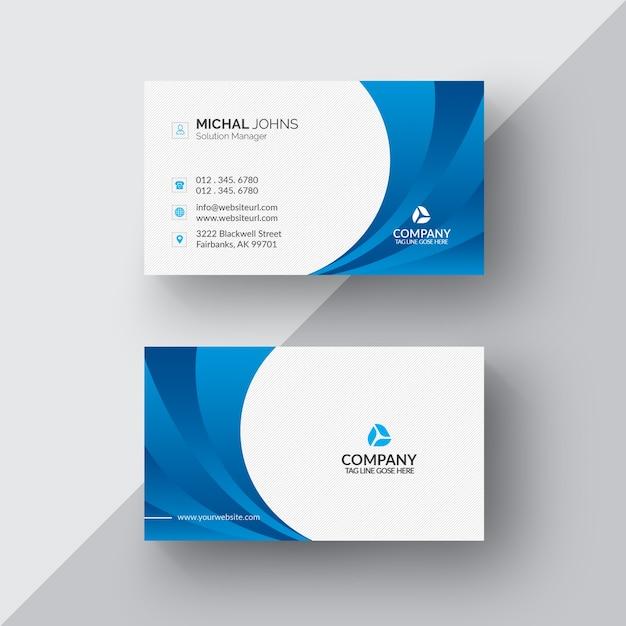 Cartão de visita azul e branco Psd grátis