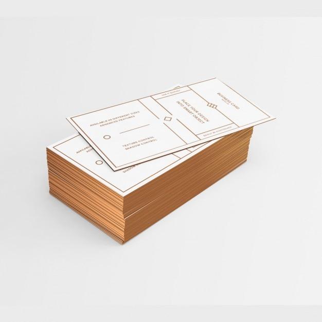 Cartão de visita branco com elementos dourados e arestas Psd grátis