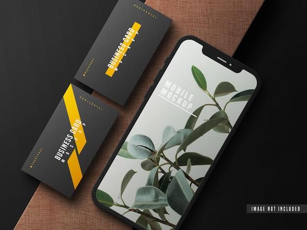Cartão de visita com modelo de telefone celular psd Psd grátis