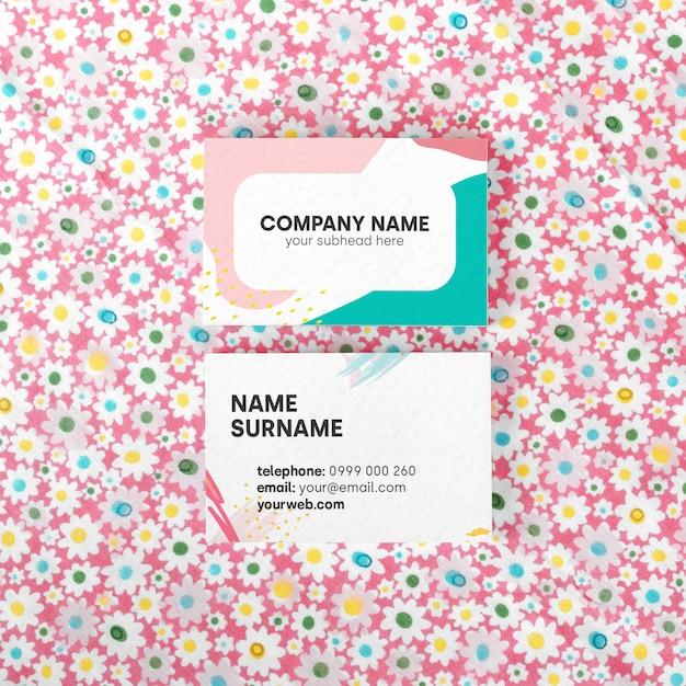 Cartão de visita de cores mock up Psd grátis
