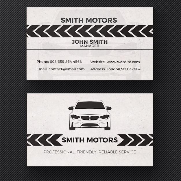 Cartão de visita do serviço do carro Psd grátis