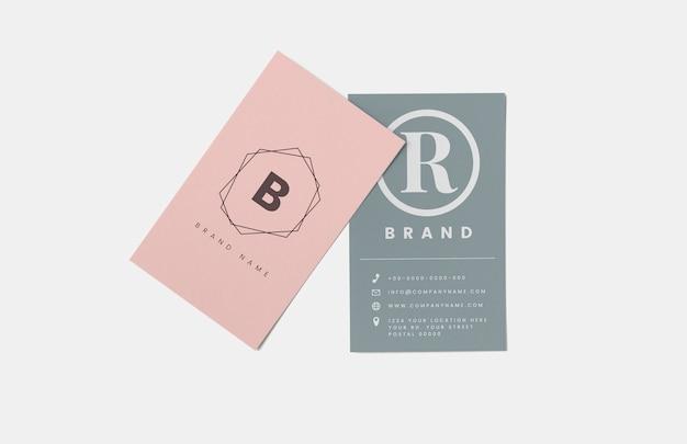 Cartão de visita e maquete de cartão de nome Psd grátis