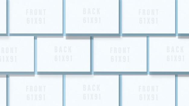 Cartão de visita em branco. maquete de dois cartões horizontais Psd Premium