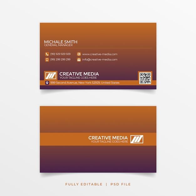 Cartão de visita gradiant Psd Premium