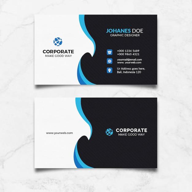 Cartão de visita limpo criativo Psd Premium