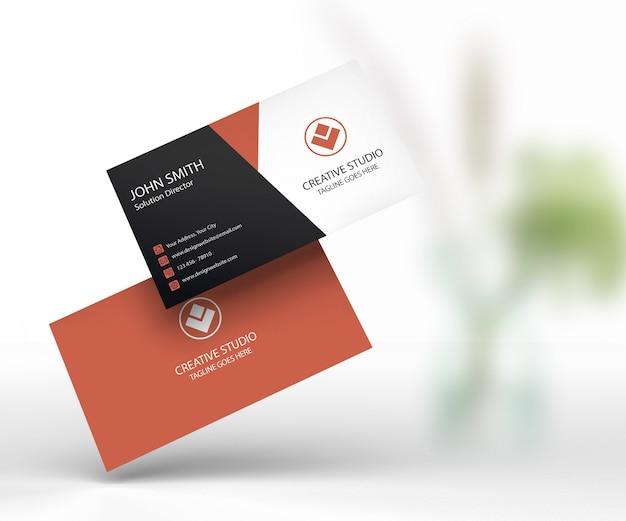Cartão de visita maquete premium psd Psd Premium