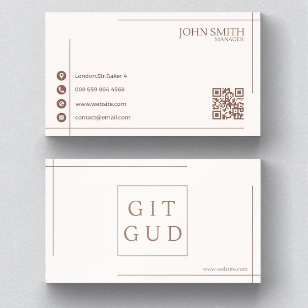 Cartão de visita minimalista elegante Psd grátis