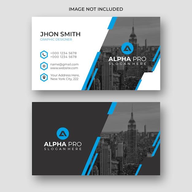 Cartão de visita moderno azul Psd Premium