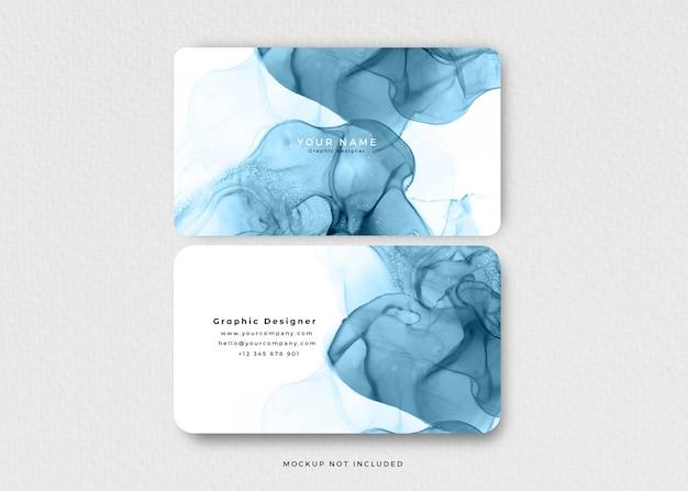 Cartão de visita moderno com tinta azul álcool Psd grátis