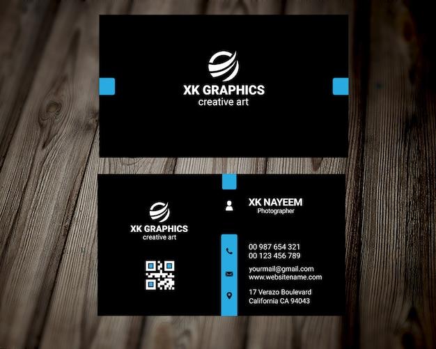 Cartão de visita pessoal do designer gráfico Psd Premium