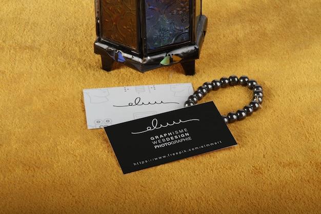 Cartão de visita ramadan mockup design Psd Premium