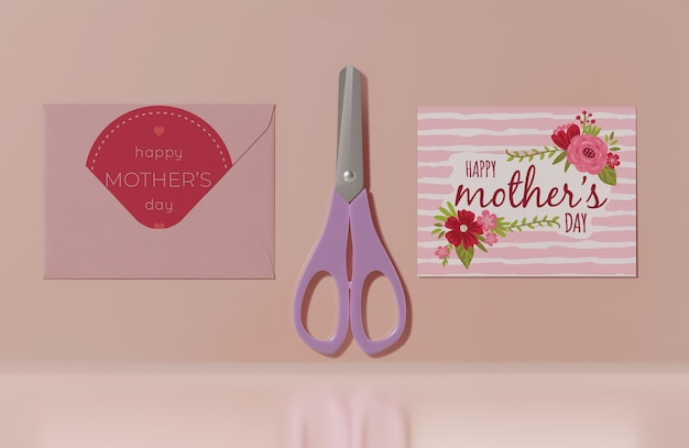 Cartão do dia das mães de close-up Psd grátis