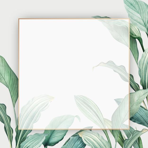 Cartão do paraíso tropical Psd grátis