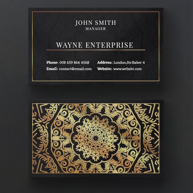 Cartão mandala de luxo Psd grátis