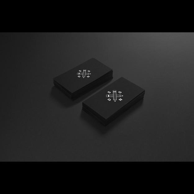 Cartão mock up projeto Psd grátis