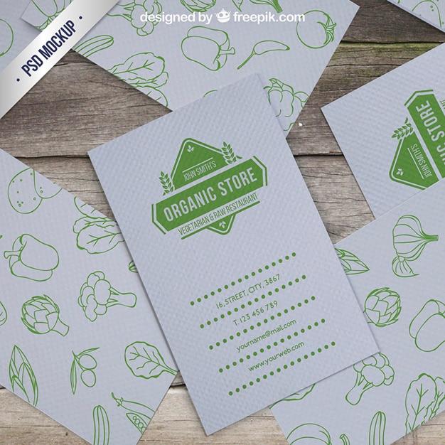 Cartão mockup loja organic Psd grátis