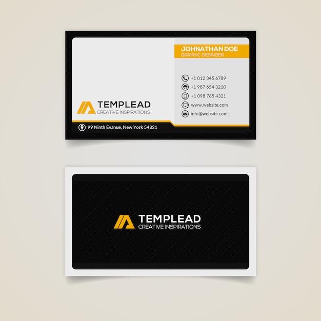Cartão moderno e profissional Psd Premium