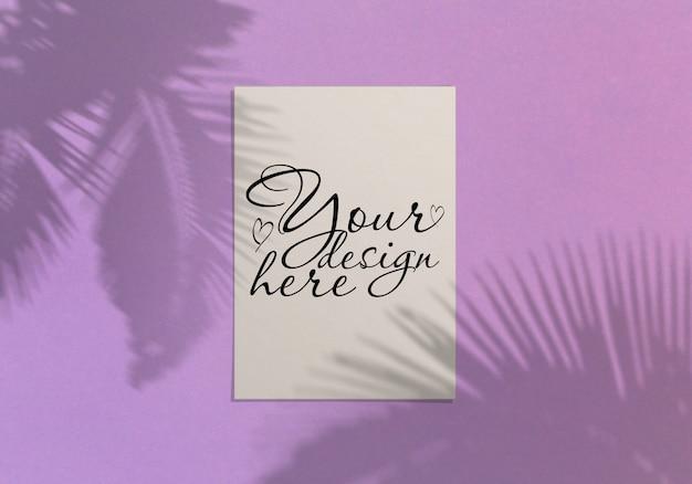 Cartão moderno ou elegante ou convite mock up Psd Premium