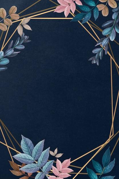 Cartão moldado botânico Psd grátis