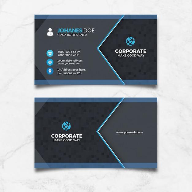 Cartão preto corporativo Psd Premium