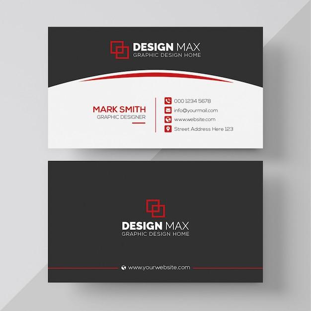 Cartão vermelho Psd Premium