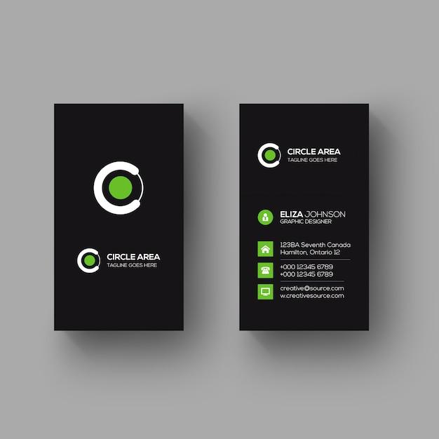 Cartão vertical minimalista Psd Premium
