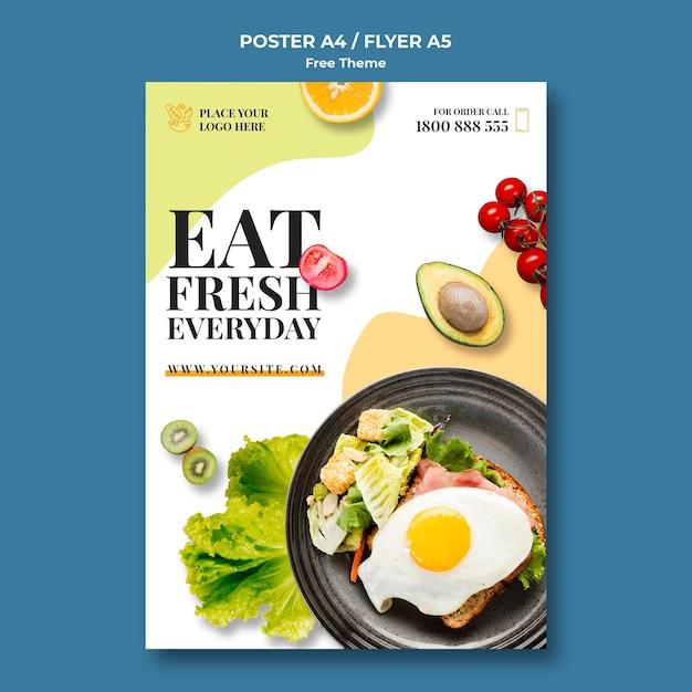 Cartaz de comida saudável Psd grátis